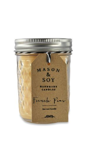 Mason Quilted Jar (237mls) Scented Soy Candle – Mason & Soy Handmade Candles