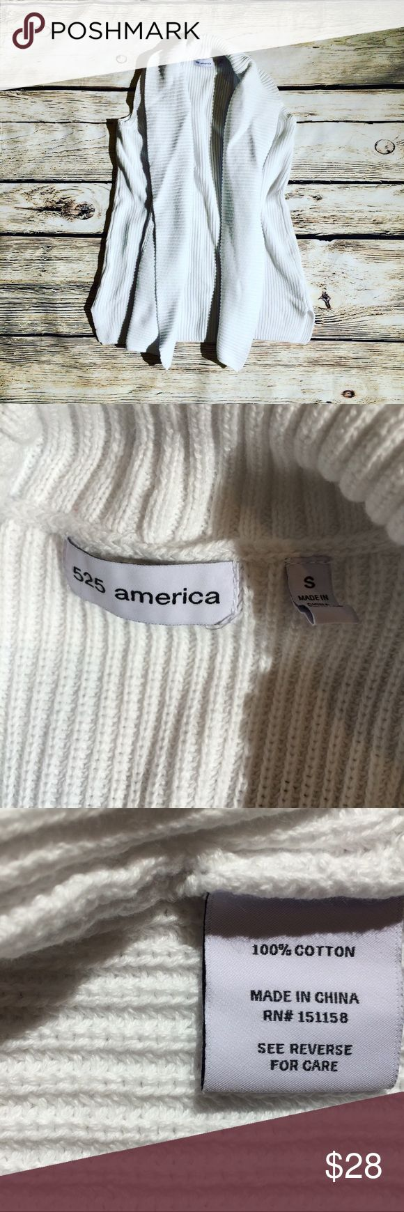 """525 American cardigan shrug sweater S 525 American  Open cardigan shrug sweater S Excellent condition washed once but never wore Material contents in photos 21"""" length 525 America Sweaters"""