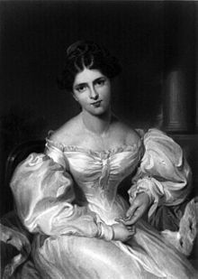 Actress Fanny Kemble, the inspiration for A Respectable Actress.: