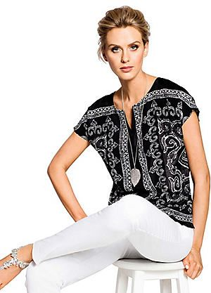 Creation L Elegant Top #kaleidoscope #monochrome