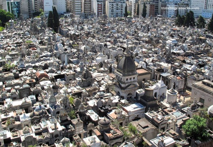 A tiny tomb town - Recoleta Cemetery in Buenos Aires, Argentina. From travelingcanucks.com