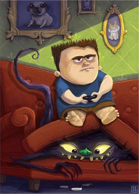 El monstruo del sofá, adora las sobras de comida y ... !las monedas! También le gustan las cosas raras que olvida la gente.