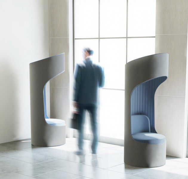 the arenson cega phone booth offers convenient acoustic privacy