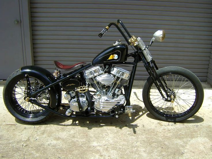 Old School Bobber Motorcycles | Harley Choppers, Bobbers