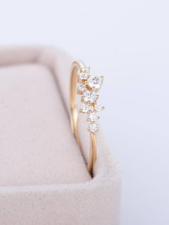 Cluster engagement ring Women Wedding Diamond ring Unique Bridal set Jewelry Promise Christmas Anniversary Birthday gift for her Solid gold PRODUCT SPECIFICATIONS Handmade item -Metal Type:Yellow Gold,White Gold,Rose Gold,(14K or 18K) Nickel Free -100% Natural, Real, High Quality Diamonds
