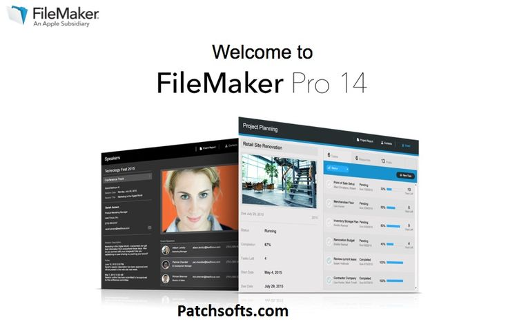 FileMaker Pro 14 Crack Version allows to Convert spreadsheets for Microsoft Excel and other files in databases to facilitate searches and reporting.