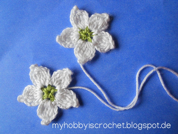 Crochet Stitches Written Instructions : ... written instructions & chart Free Crochet Flower Patterns