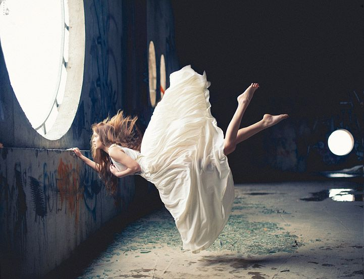 Zero Gravity, Surreal Photos of Women Floating in Mid-Air- Nikolay Tikhomirov