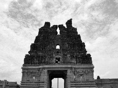 Gopura or Temple tower of the Vitthala temple, Hampi, Karnataka, India #India #Kamalan #culture #photo #travel