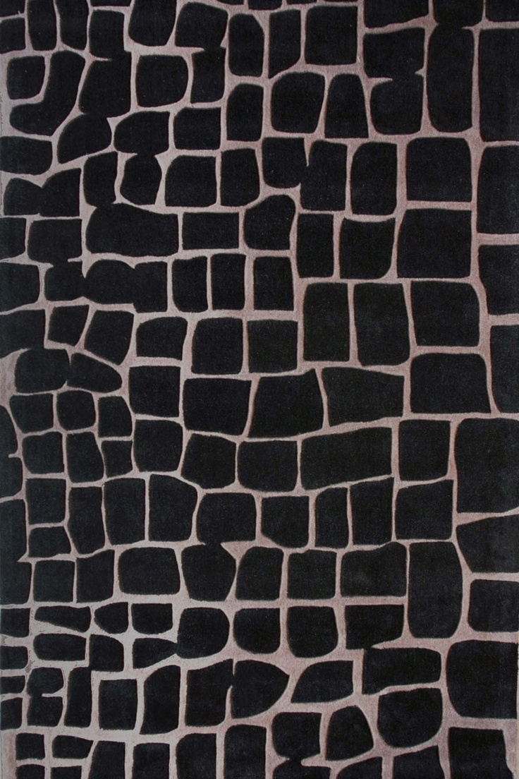 Wall to wall bathroom carpet 5 x 8 - Contemporary Rugs Crocodile 5x8 Rug