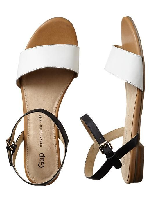 Gap Leather Sandals - white