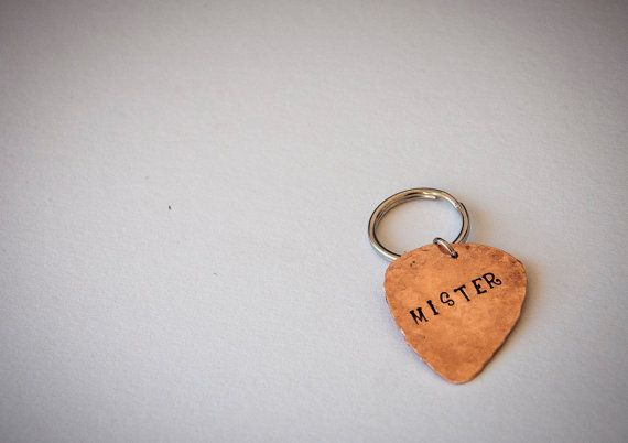 Guitar pick dog tag with name and phone number by SilviaWithLove