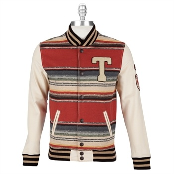 True Religion Men's Contemporary Striped Varsity Jacket #VonMaur #TrueReligion #Sienna