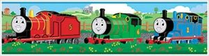 Thomas the Tank Engine & Friends Self-Adhesive Wall Borders - Thomas the Train Removable Wall Decals and Growth Charts for Decorating Thomas-themed Boys Rooms