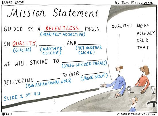 Mission statement writing