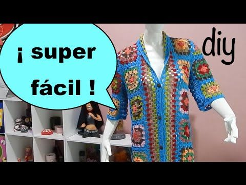 Suéter Abrigo Granny parte 1 #Ganchillo #Crochet Sweater #Diy - YouTube