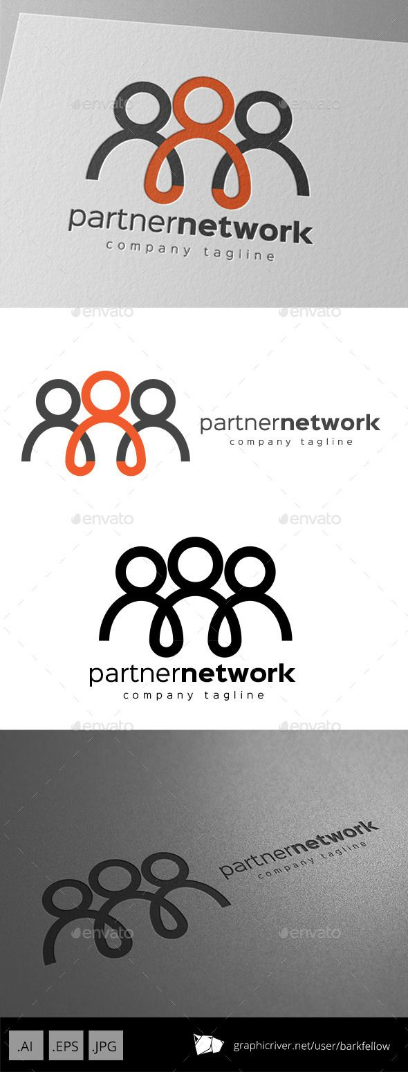 Partner Network Logo Design Template Vector EPS, AI. Download here: http://graphicriver.net/item/partner-network-logo-design/11011199?ref=ksioks