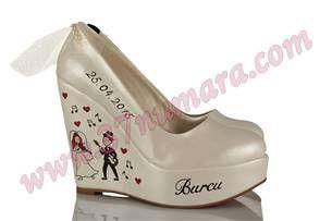 Burcu & Mesut  Düğün ayakkabıları,el boyama,nikah ayakkabıları, tasarım ayakkabılar