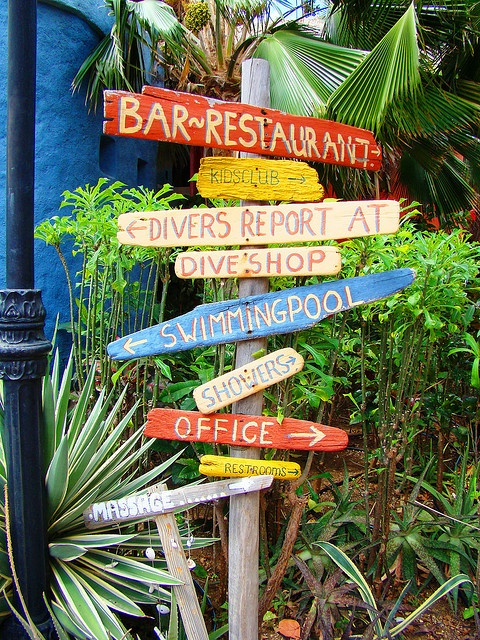 I want something like this for the backyard - like how many miles to our favorite locations...