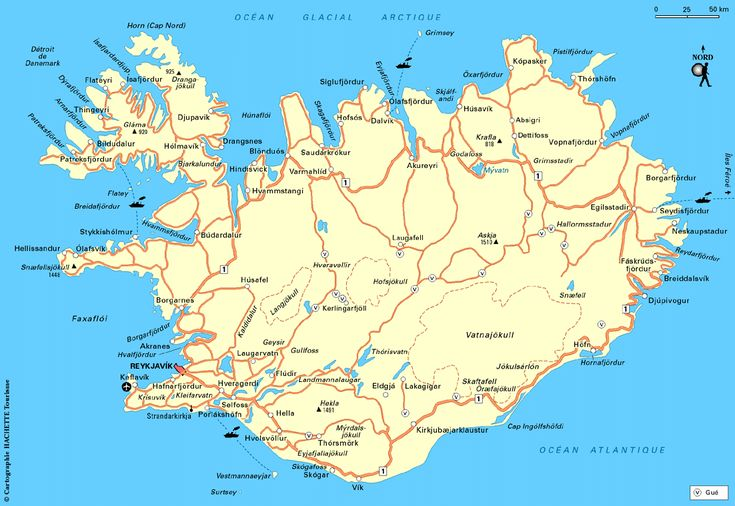 Carte Islande : Plan Islande - Routard.com