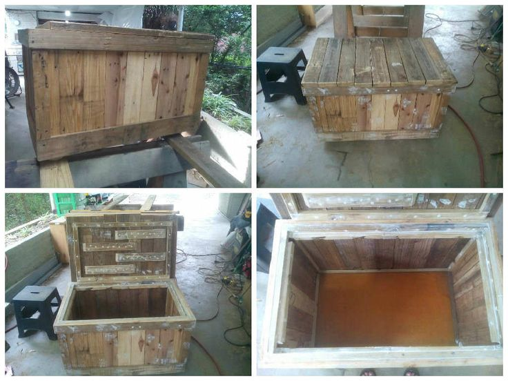 Toy chest from repurposed pallets pallet ideas kid for Toy pallets
