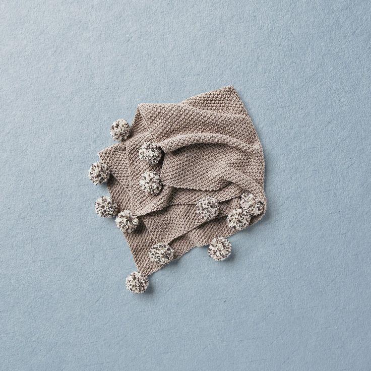 KNIT KIT, Merino wool Van Beren baby knit blanket RAMONA, beige