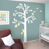 Stunning wall art for a baby nursery - vinyl stickers so easy to use