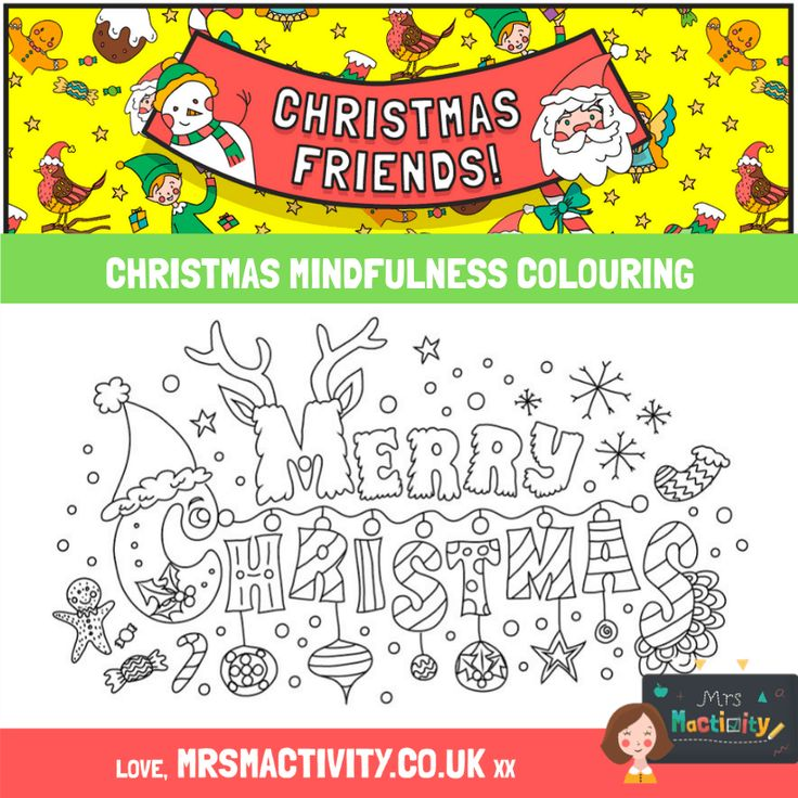 Christmas mindfulness colouring   Mindfulness colouring ...
