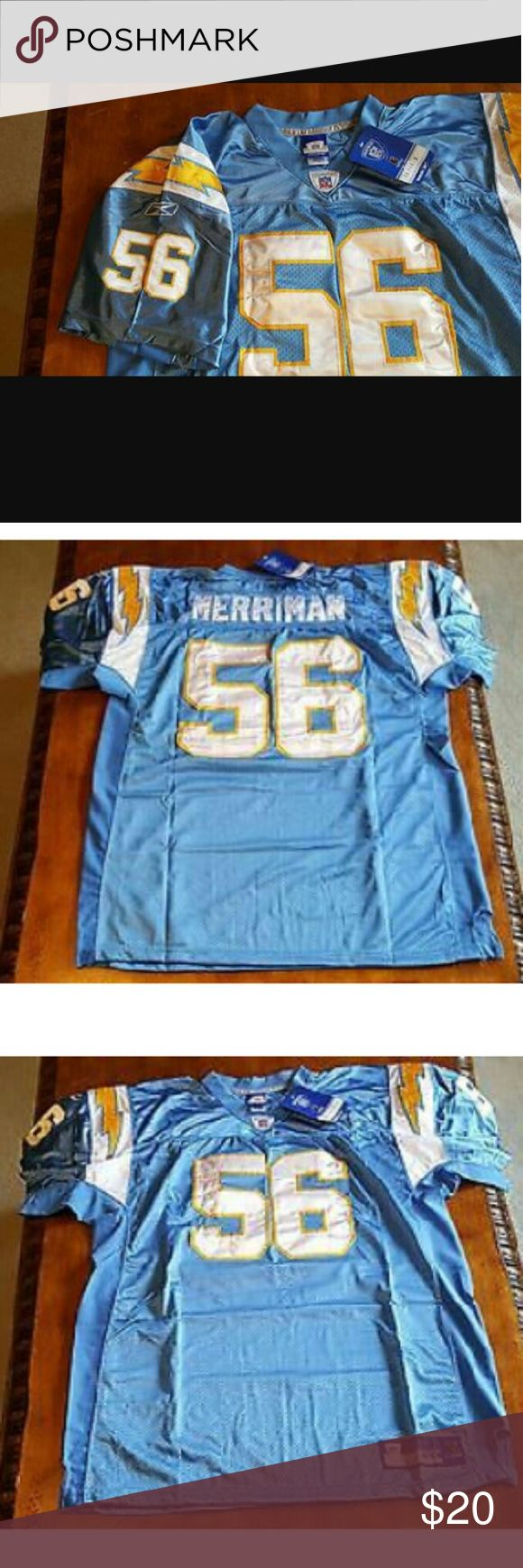Reebok Official NFL Chargers Jersey Authentic jersey NWT #56 Shawne Merriman Size 60 Don't be afraid to use the offer button on any of my items :) Reebok Shirts