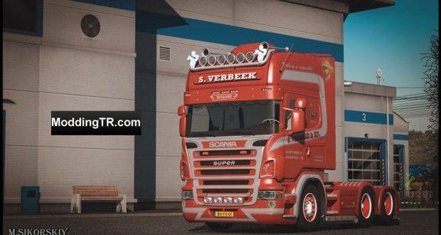 Euro Truck Simulator 2 Scania Verbeek Truck - Tır