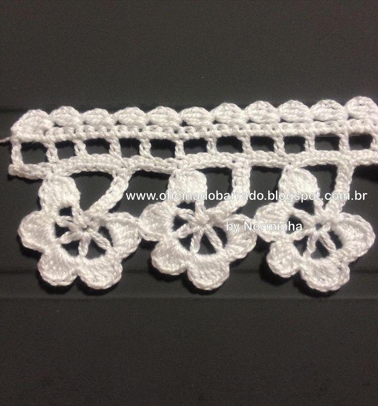 Crochet Edging Photo Tutorial - (oficinadobarrado.blogspot)