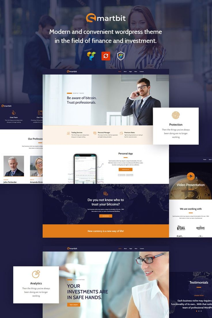 Smartbit - Finance & Corporate WordPress Theme Big Screenshot