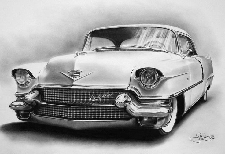 56 Cadillac drawing by WhizzieWhizzer.deviantart.com on @DeviantArt