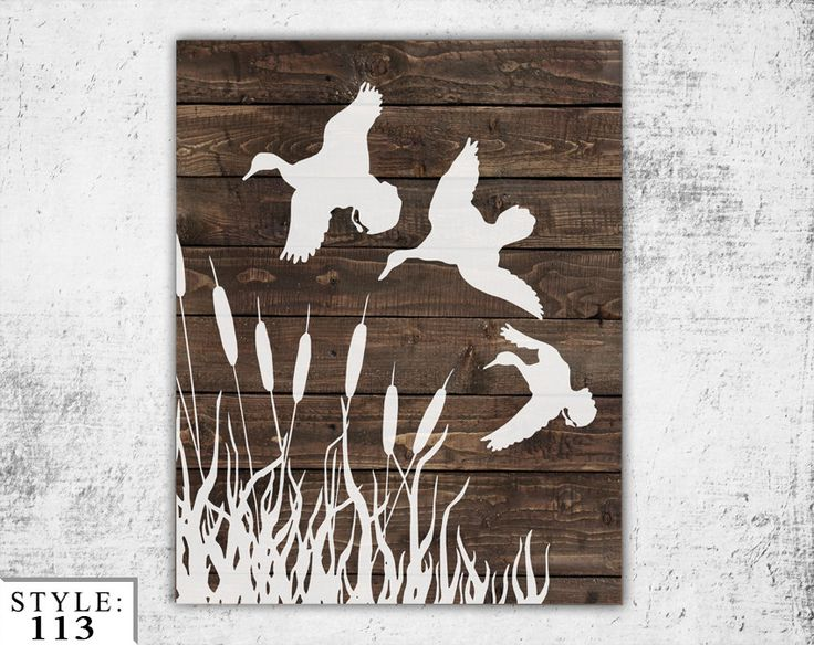 Wooden Ducks Sign 11x14 Home Decor Outdoors by BlayedStudios