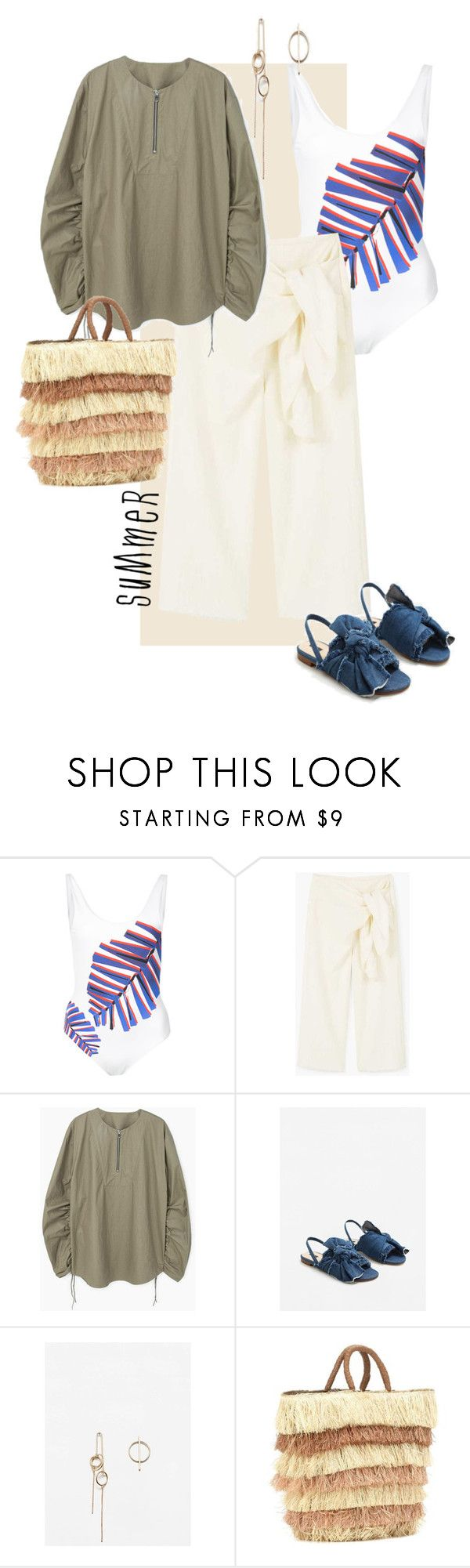 """""""Summer essentials"""" by statuslusso ❤ liked on Polyvore featuring ONIA, MANGO, Kayu and Summer"""