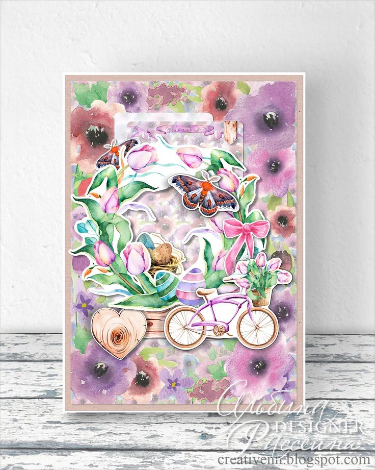 Весеннее настроение. Пасхальная открытка. : На крыльях вдохновения