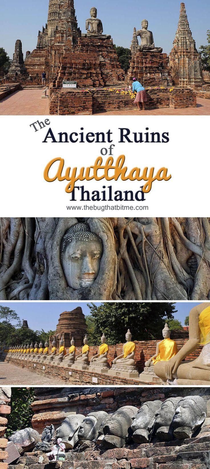 The Ancient Ruins of Ayutthaya, Thailand  #wanderlustwanderland www.wanderlustwanderland.com