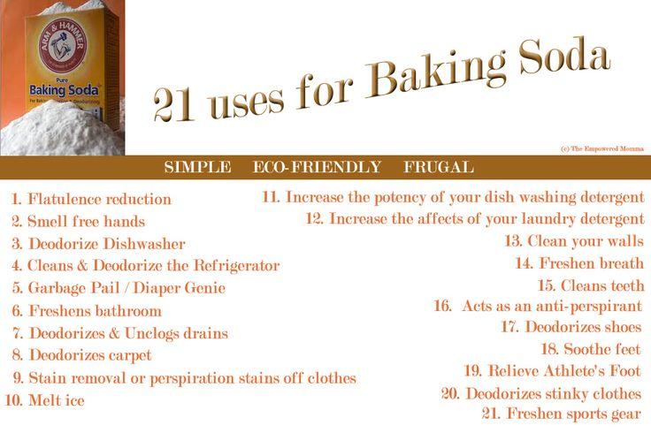 21 uses for baking soda