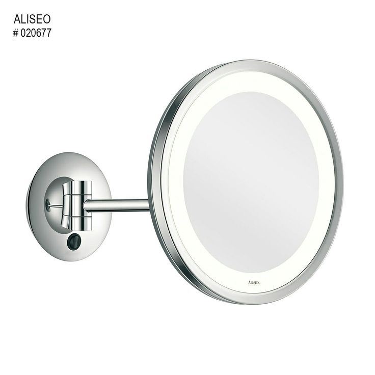 Aliseo-LED CITY LIGHT   This single arm beautiful lighted mirrior is great for applying make up in the evening and great for make up artist with evening events. With its 3x magnification and warm white light it's pure perfection.  Make yourself or clients have a perfect facebeat even in the evening and purchase the LED CITY LIGHT mirror.