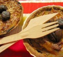 Recette - Tartelettes butternut, châtaignes, lardons et pointe de cannelle - Proposée par 750 grammes