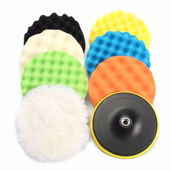 """Bolt on Type 7/"""" Wool /& Polyester Blend Buffing Pad"""