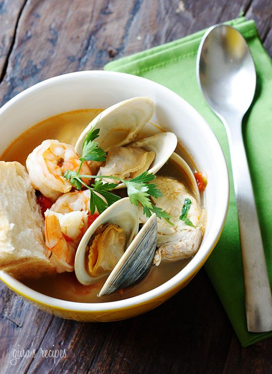 Halibut and Shellfish Soup - Serve this with a crusty piece of bread and you have yourself a complete meal.