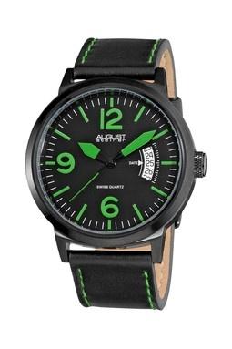 August Steiner Men's Green Bright Quartz Watch