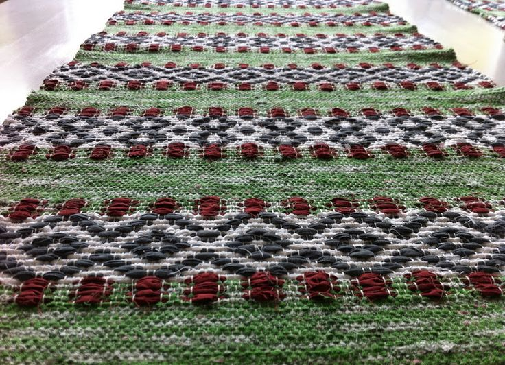 Toras Vävstol Mina Alster Rose Path Table Runner In Rag Rug Style Swedish Styleweaving Patternsknitting