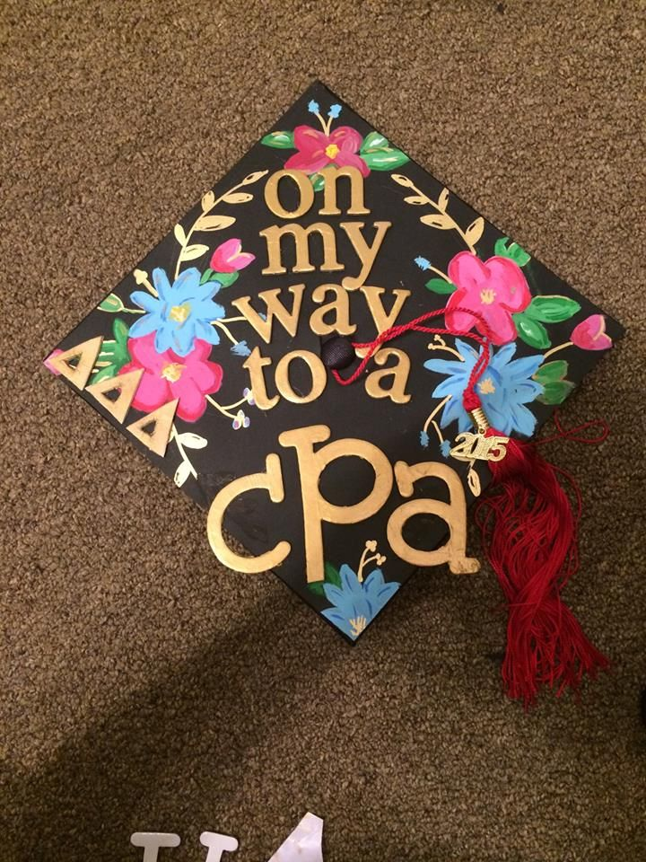 8 best projects to try images on pinterest graduation for Accounting graduation cap decoration