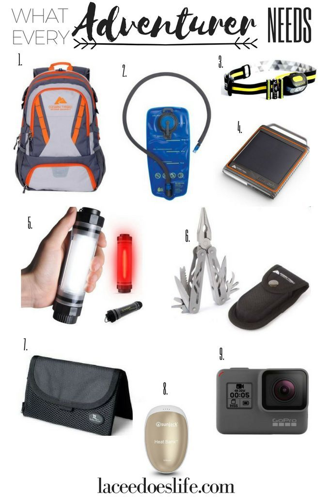 Adventurer Gear | Gift Guide | Grad Gifts | Travel Gear | Travel | Vacation | Sunjack | Ozark Trail | GoPro | Buddy Pouch |