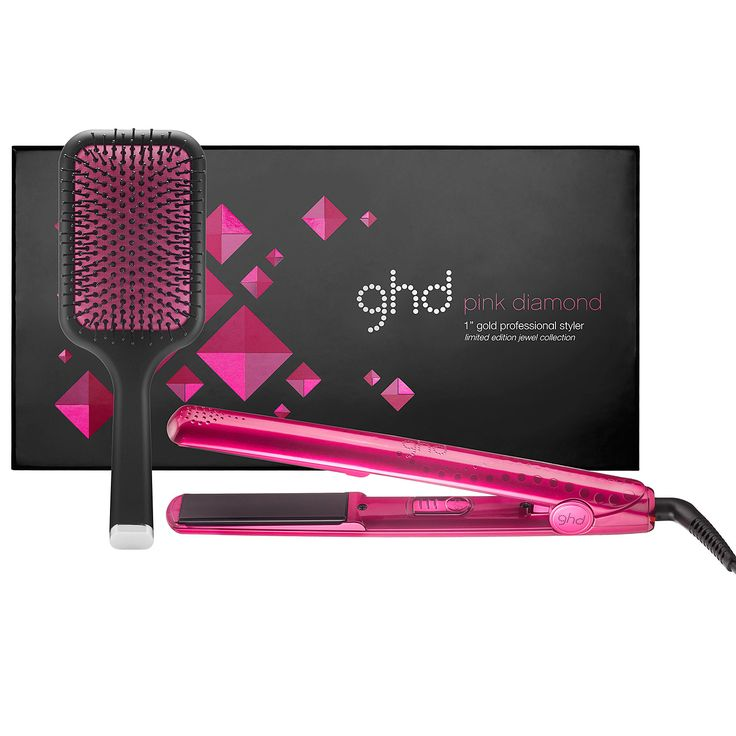 "New at #Sephora: ghd Jewel Collection 1"" Gold Professional Styler in Pink Diamond #hair #flatirons"