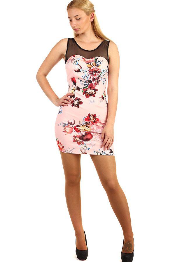 1943f571709 Krátké šaty s potiskem květin - koupit online na Glara.cz  letnisaty   damskesaty
