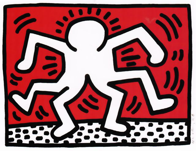 Keith Haring |  Portfolio of 5 Artists in Support of Bill T. Jones/Arnie Zane & Company (Untitled - Doubleman) (1986) | Available for Sale | Artsy