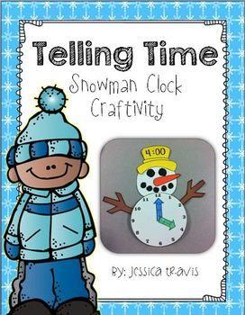 Telling Time {Snowman Clock Craftivity} Freebie!